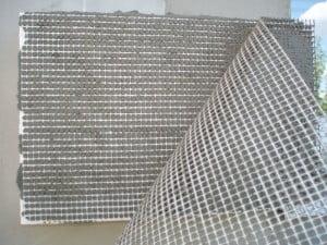 пример армирующей сетки на пенопласте