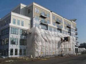 использование плёнки при реконструкции фасада