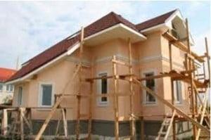 использование лесов при реставрации фасада