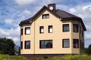 Облицовка фасада частного дома - композитная панель