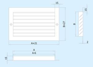 Структура наружной вентиляционной решетки