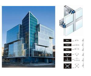 Структура светопрозрачного фасада и крепления