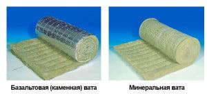 Базальтовая и минеральная вата