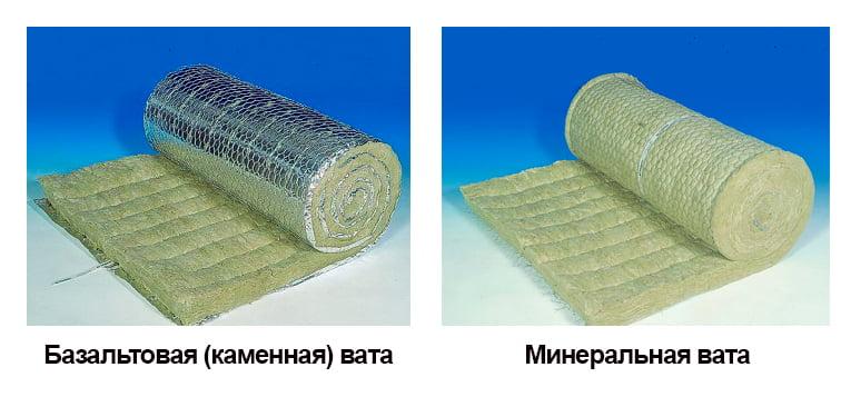 На фото показаны разновидности минеральной ваты