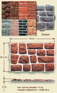 Размеры цокольной панели Аэлит