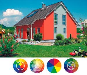 Красный цвет фасада дома