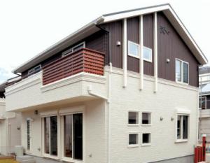 Отделка дома фиброцементными панелями Konoshima