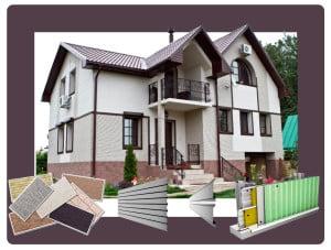 Дом и изображения наружных стеновых панелей