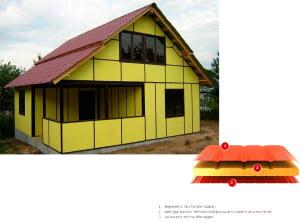 Отделка дома сэндвич-панелями и их структура