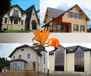 Варианты отделки домов