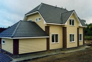 Отделка каркасного дома блок-хаусом