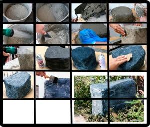 Схема - как сделать искусственный камень