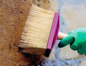 Выравнивание и очищение стен фасада