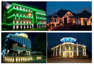 Красивое освещение зданий