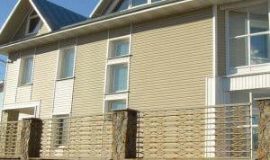 Отделка дома фасадными панелями Alta-profil