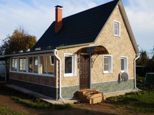 Отделка дома фасадными панелями FineBer