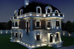 Проект скрытой подсветки здания