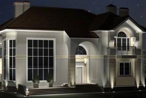 Проект заливающего освещения здания